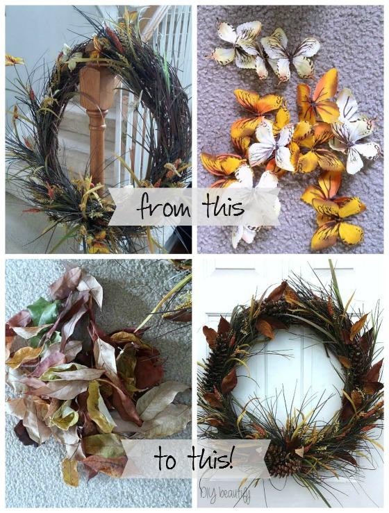 Fall Wreath at www.diybeautify.com