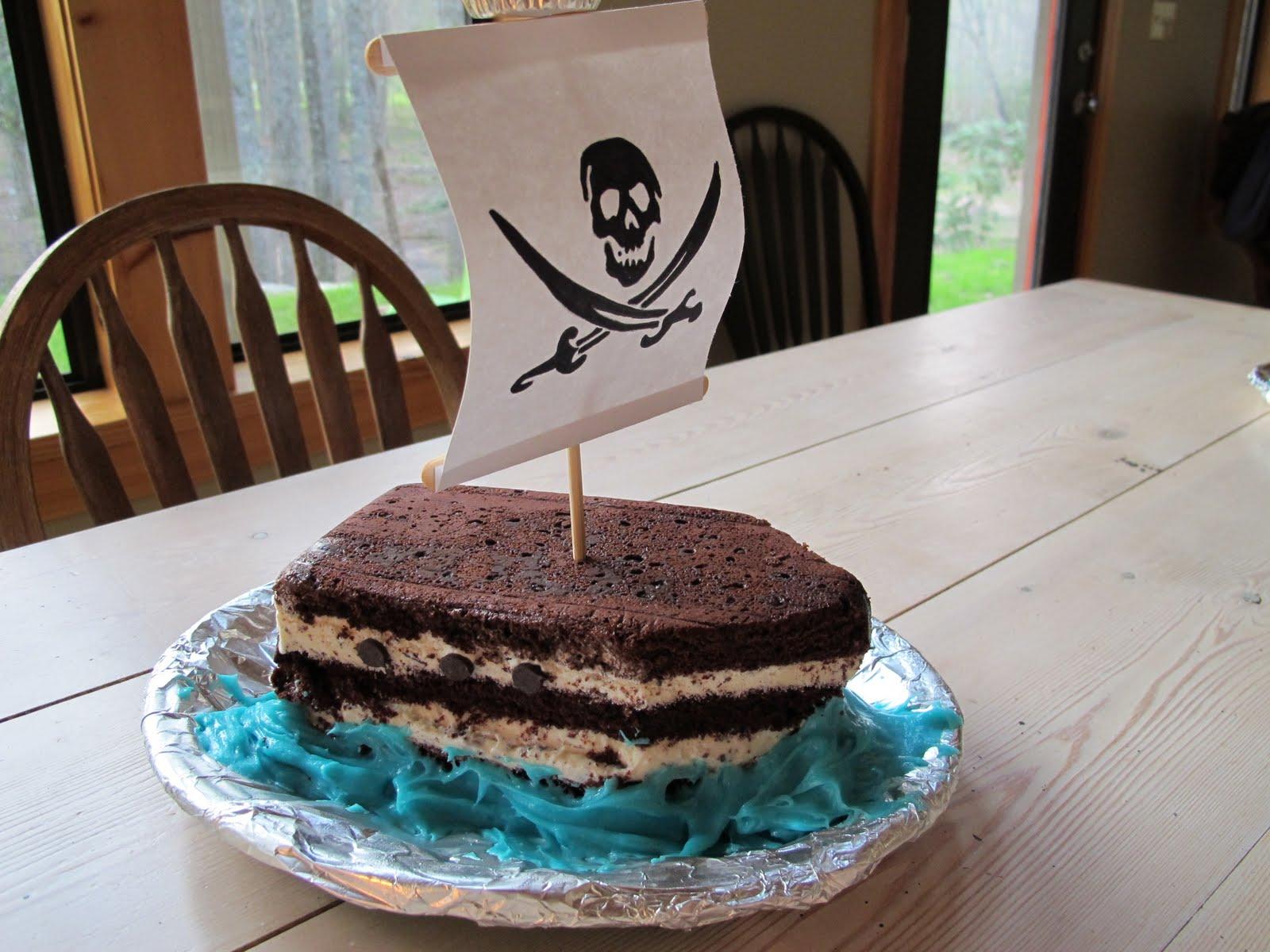 pirate ship birthday cake instructions