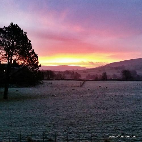 Yorkshire Dales frosty sunrise