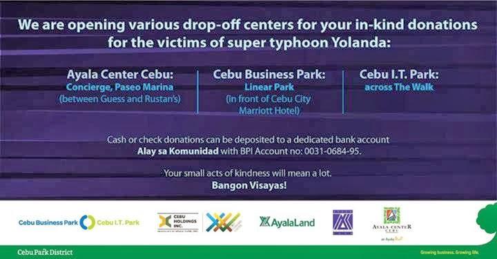CebuOnlineTV-Yolanda-Donations-Ayala-Malls-Land