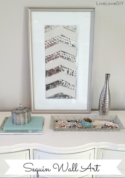 DIY Sequin Wall Art