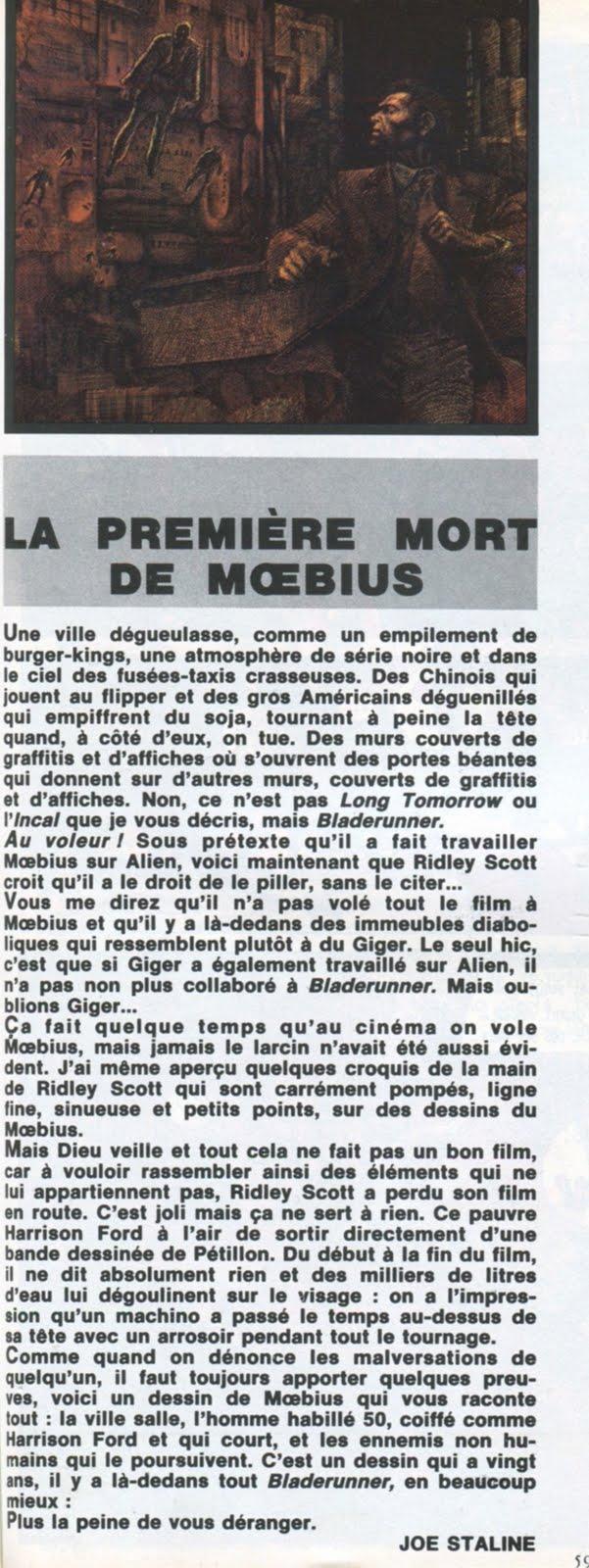 METAL HURLANT (Sept 1982) Blade Runner LA+SECONDE+MORT+PHILIP+K.+DICK+7