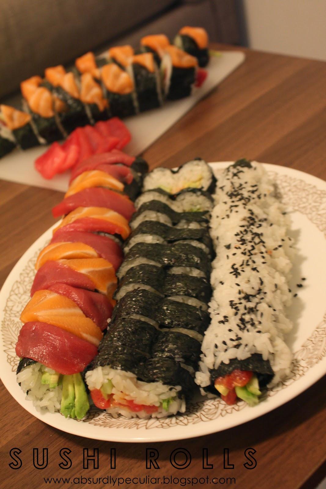 Sushi, Rolls, DIY, Recipe, Salmon, Tuna