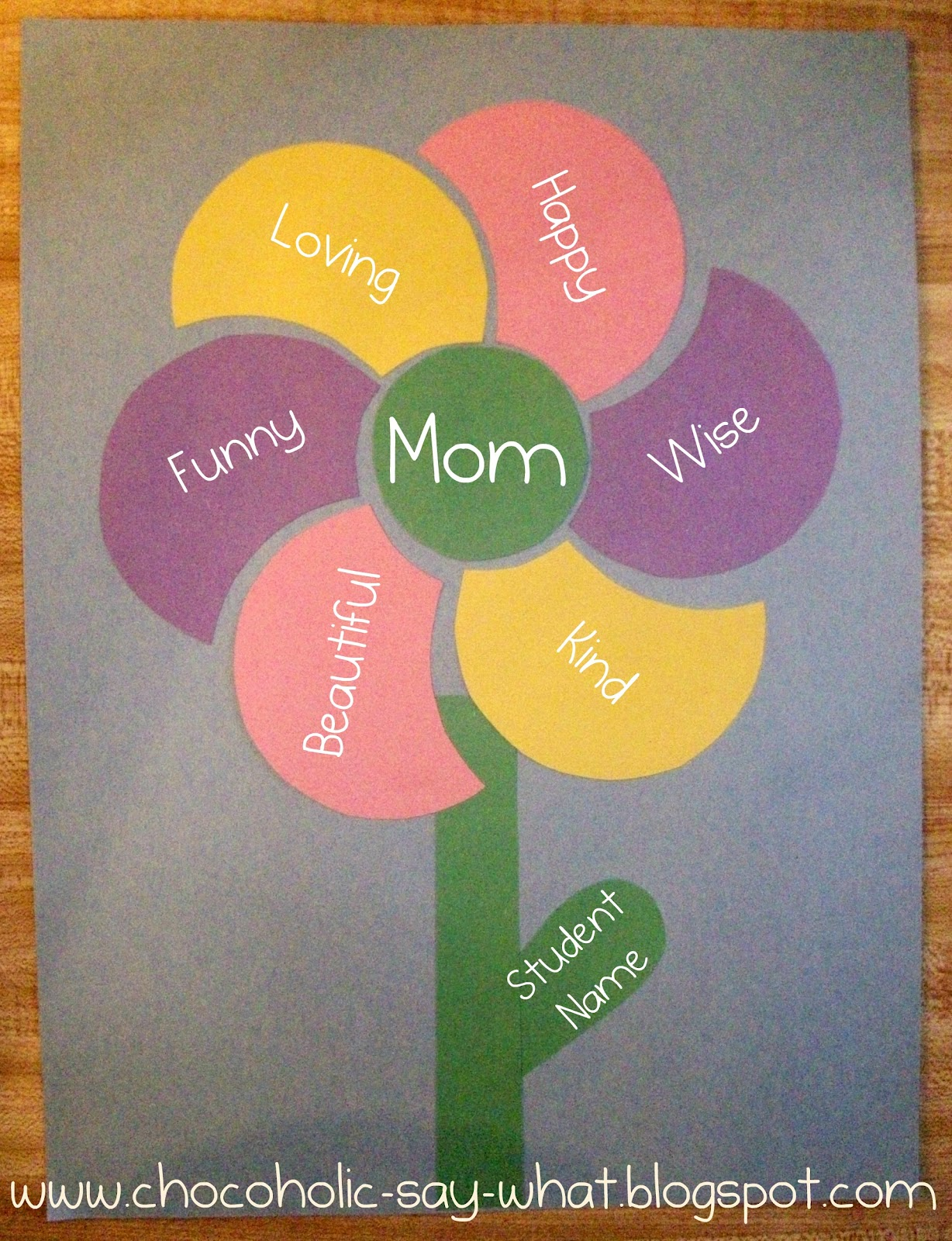 Chocoholic Say What Mothers Day Adjective Flower