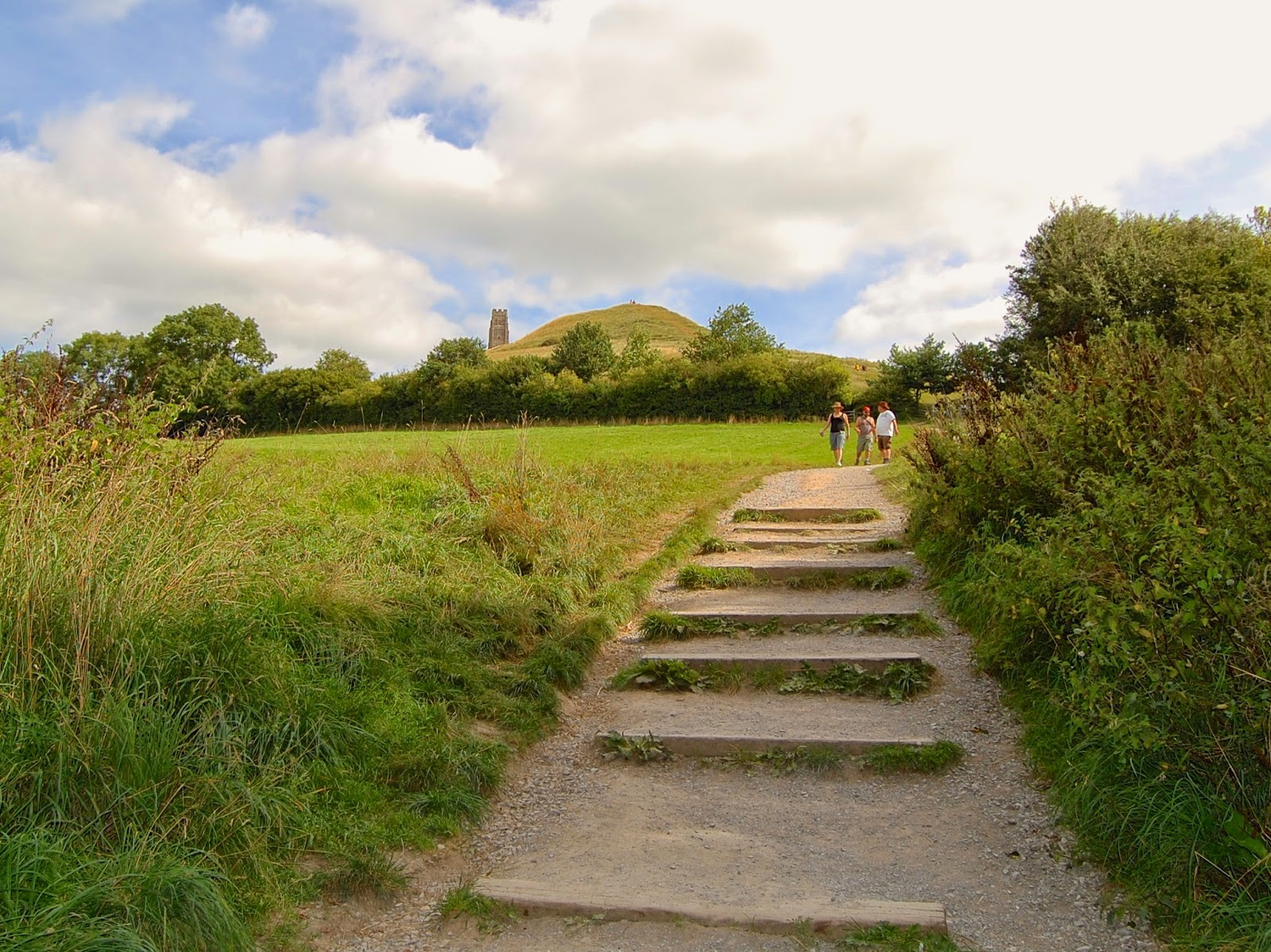 View from the base of the Glastonbury Tor