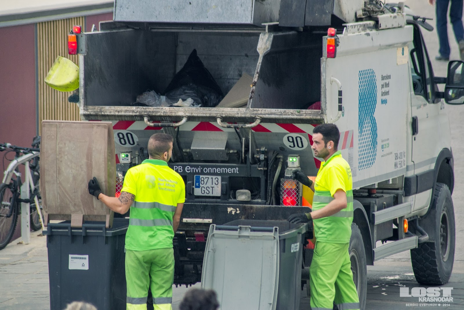 Barcelona garbage men