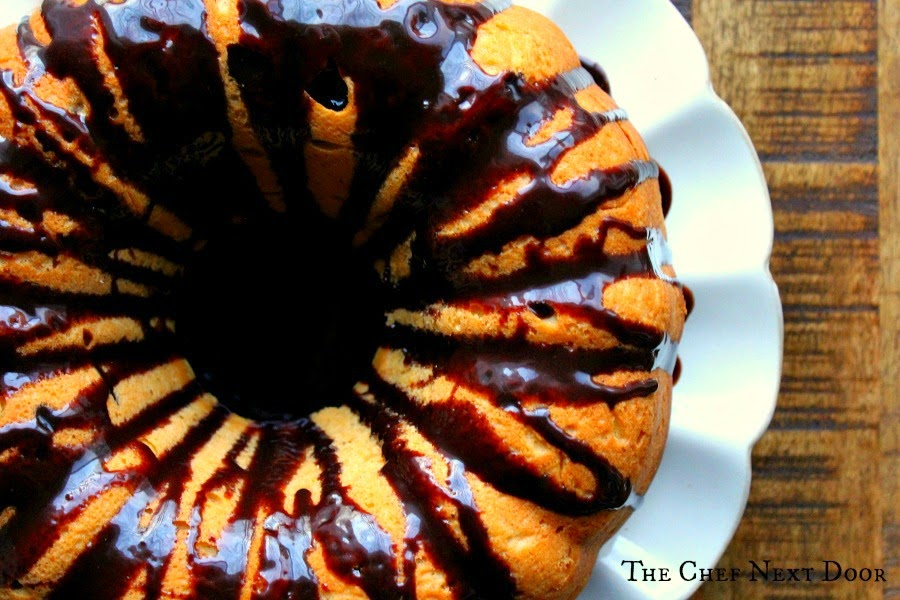 Sweet Potato Bundt Cake with Dark Chocolate Ganache | The Chef Next Door