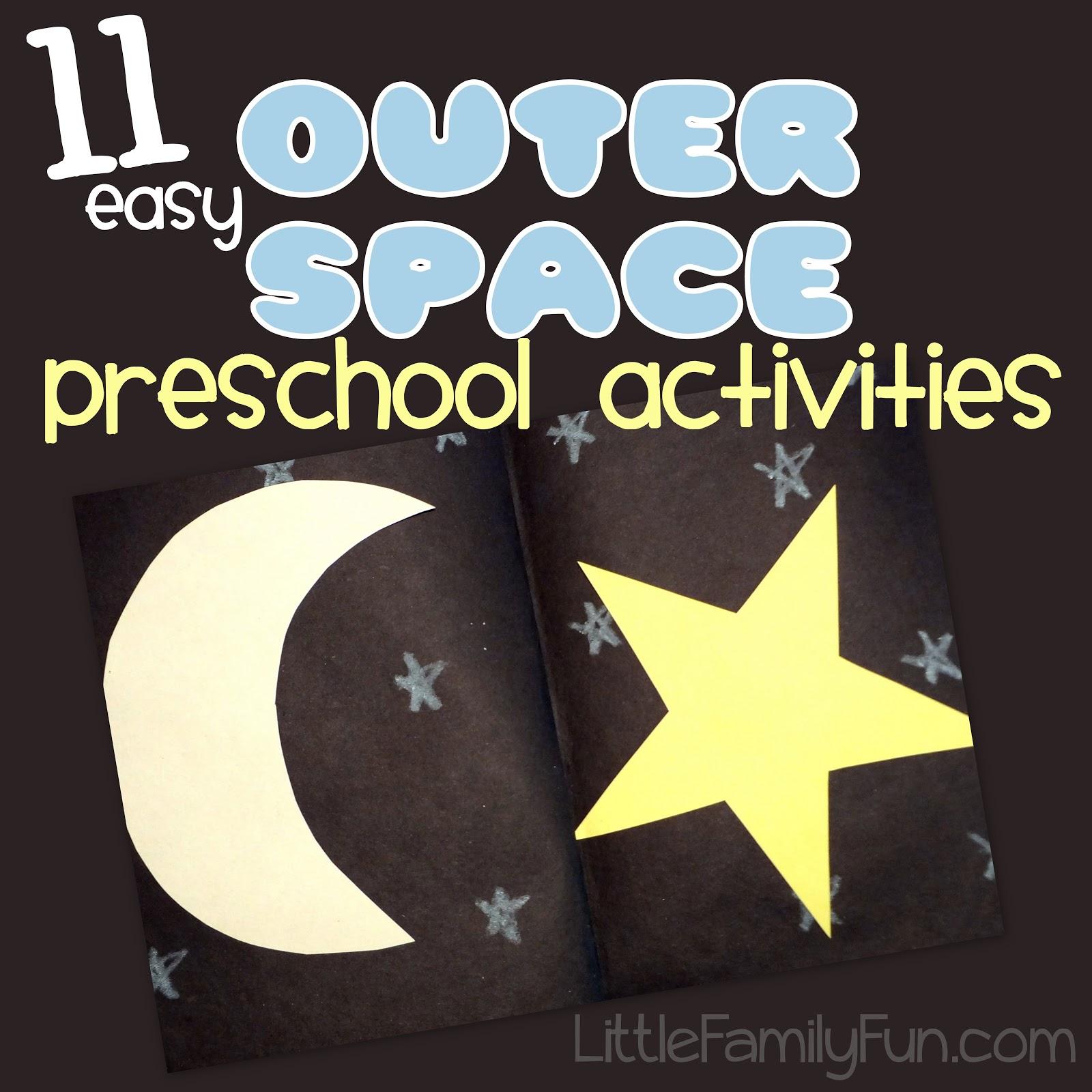Space Theme Preschool Activities