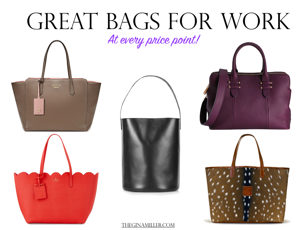 25 Great Bags For Work | Gina Miller
