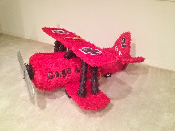 Vintage Airplane Hand Made Custom Piñata airplane collectable airplane birthday decoration airplane pinata
