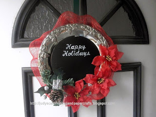 DIY Christmas plate wreath