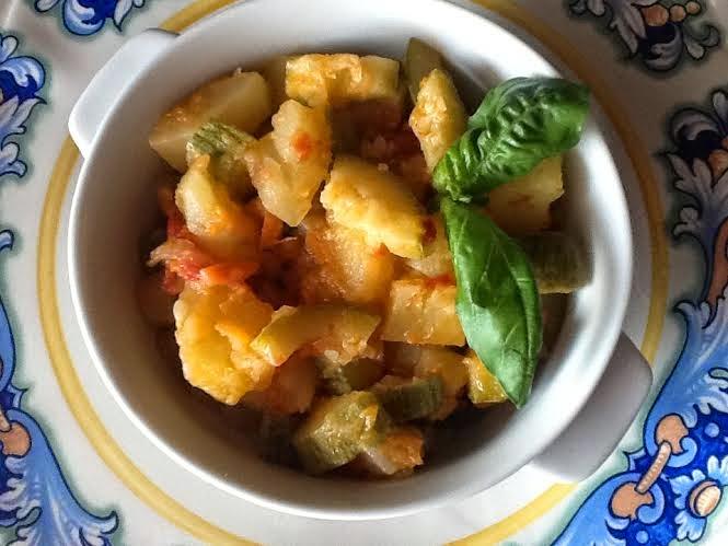 piatto abruzzese: zucchine e patate (chicocce e patane)