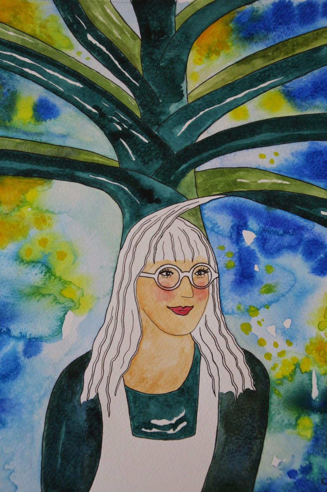 akvarell carolin zander blogg purjolök