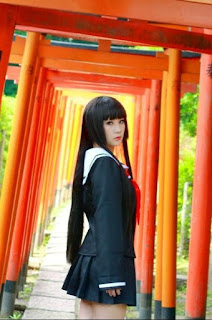 Koyuki Cosplay as Enma Ai from Jigoku Shoujo