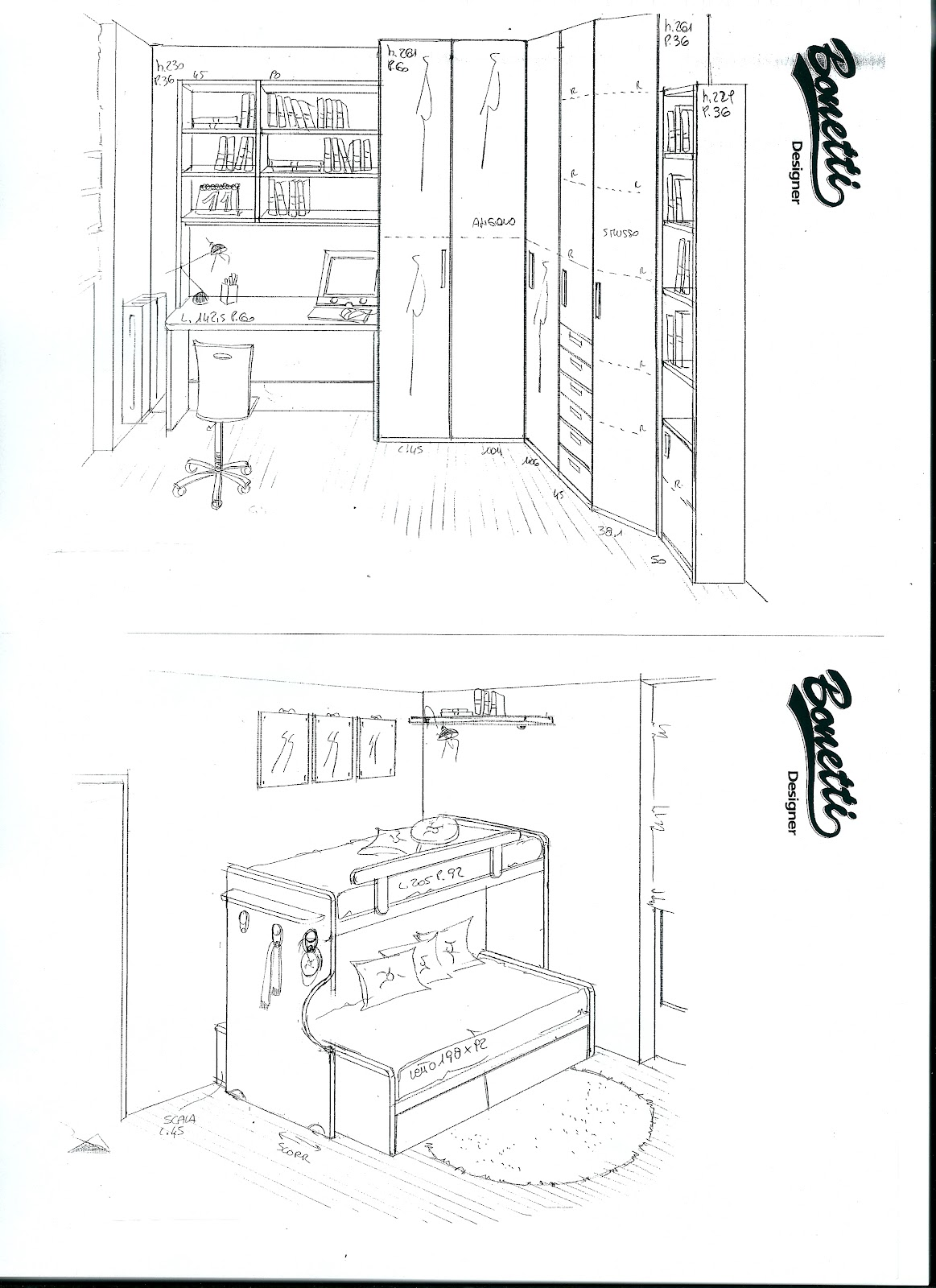 BONETTI CAMERETTE BONETTI BEDROOMS: CAMERETTE PER BAMBINI
