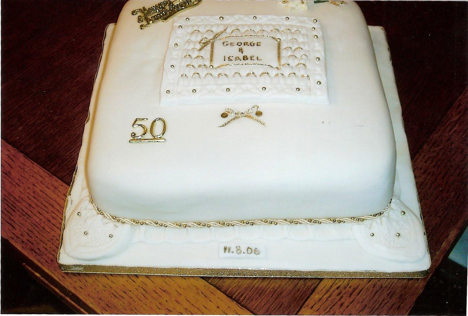 Cake Decorating: Golden Wedding cakes (August 2006)