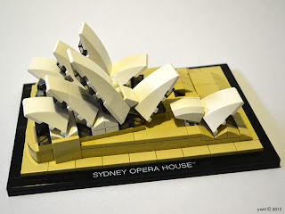 lego sydney opera house - the completed build
