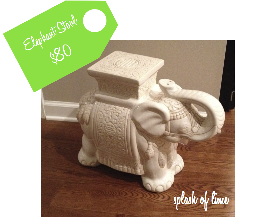 Ceramic Elephant Garden Stool... $80