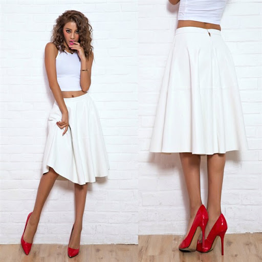 leather skirt for women trends 2016/2017