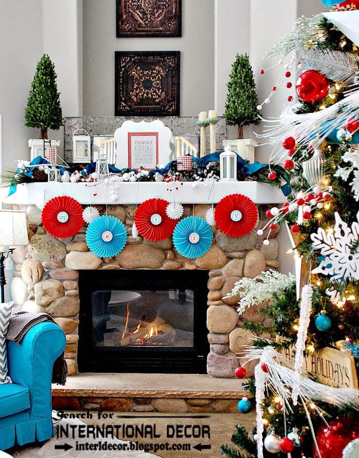 Fireplace Design fireplace christmas decorations : Best Christmas decorating ideas for fireplace mantel 2015