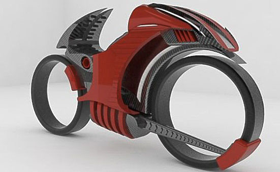 Carbon Fibre Concept Tron Motorcycle