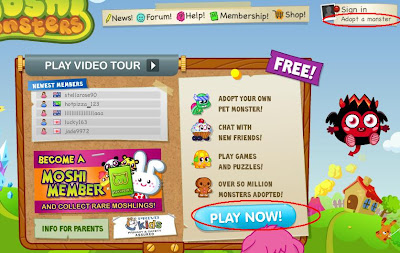 Moshi Monsters Sign In