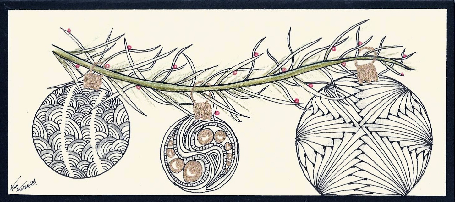 Deep Magic Tangles: Christmas Card Workshop