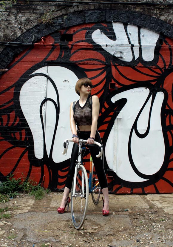 sexy girl riding bicycle