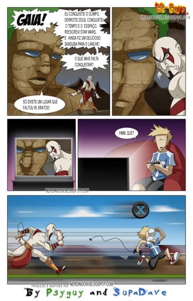 God of War: Kratos pede mais desafios para Gaia [tirinha]