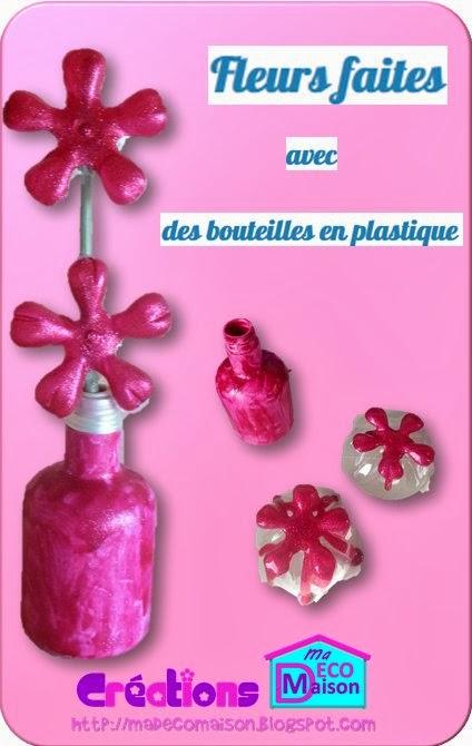 fleurs faites avec des bouteilles en plastique cr ations ma d co maison. Black Bedroom Furniture Sets. Home Design Ideas
