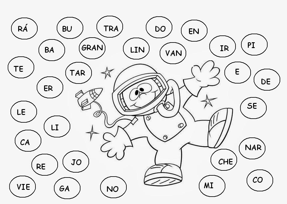 combinar letras para formar palabras:
