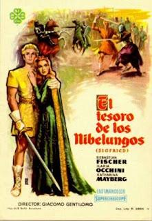 El tesoro de los Nibelungos (1957) | Cartel | Pelicula | Cine clásico