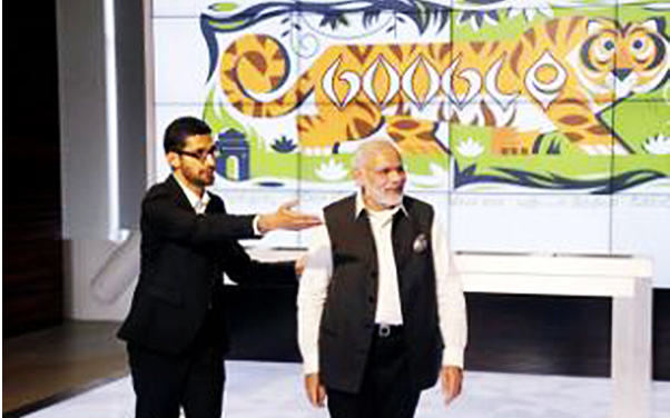 google office video. pm narendra modi at google office full video a
