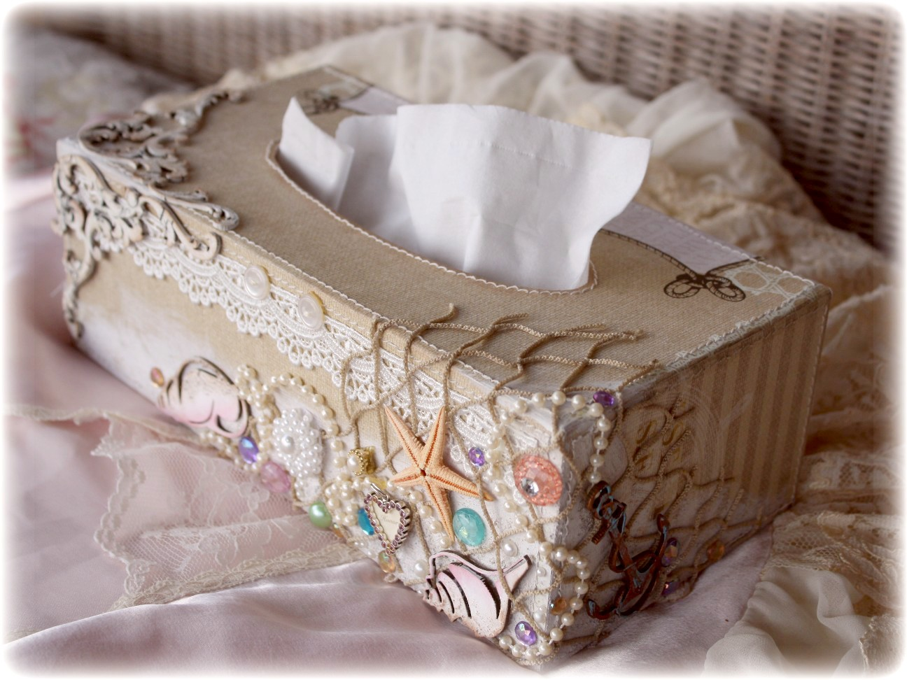 Such a pretty mess websters pages dusty attic - Beach themed tissue box cover ...