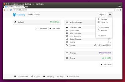 Syncthing WebUI