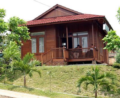 rumah sederhana dari kayu