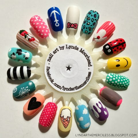 Lyndar the merciless last of the summer vibes i painted this summer vibes nail art wheel more than two years ago around the time i did those cloud and ice cream nails and promptly forgot to prinsesfo Image collections
