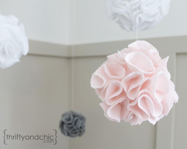 Hanging Fabric PomPom Balls