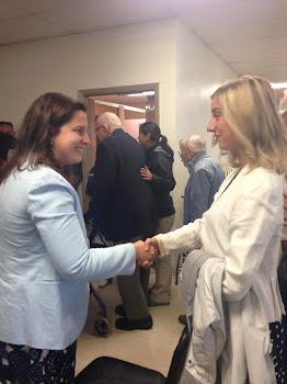 Rep. Stefanik Meets a Constituent in Plattsburgh