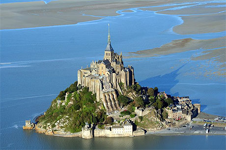 photo du Mont Saint Michel avant grande marée