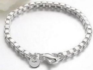 Special Price Wholesale Fashion Jewelry 925silver Ladies/Mens Chain Bracelet