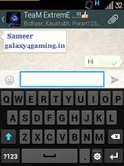 ICS Themed Stock Samsung Keyboard for Galaxy Y