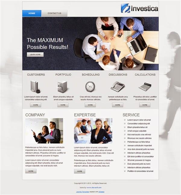 Investica - Free Joomla! Template
