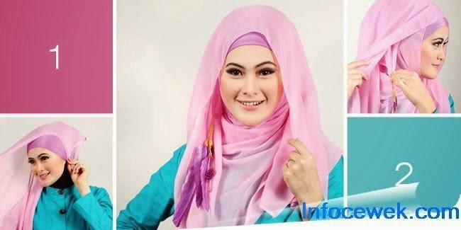 model jilbab segi empat 2014