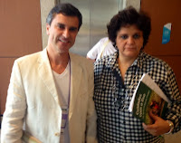 Leandro Coutinho e a ministra do Meio Ambiente Izabella Teixeira