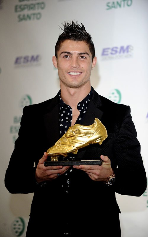 Ronaldo with Golden Boot