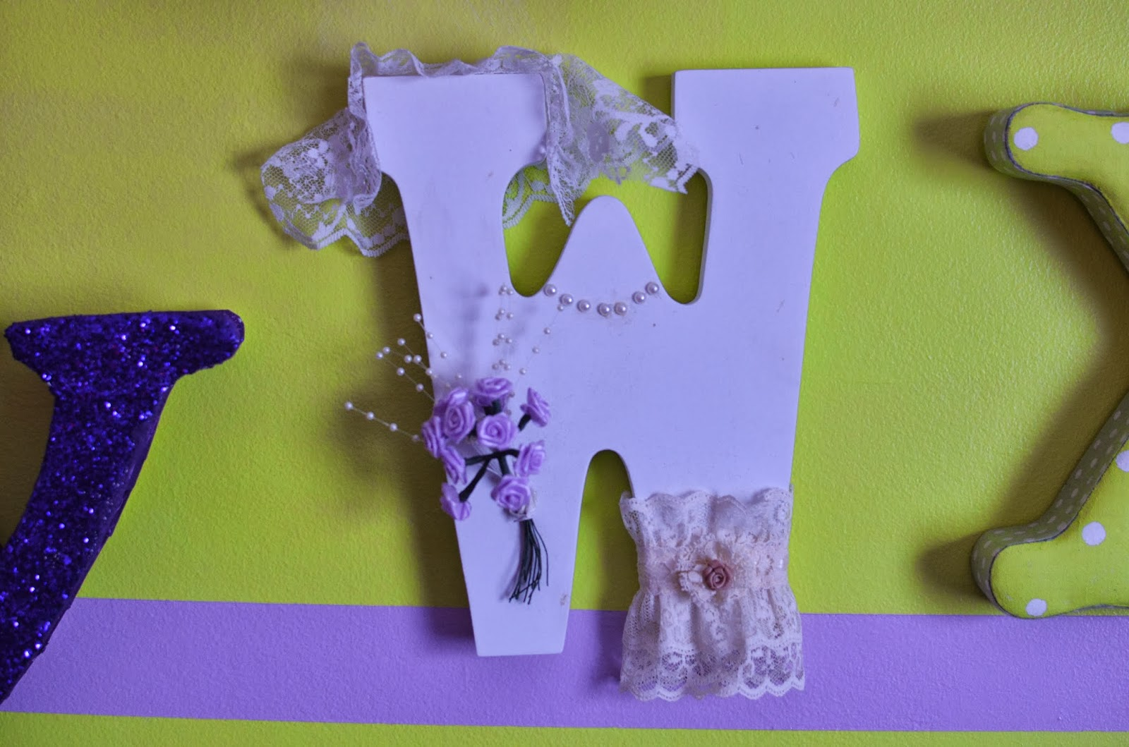 The Letter N In Purple Glitter I sealed the letter so thereThe Letter N In Purple