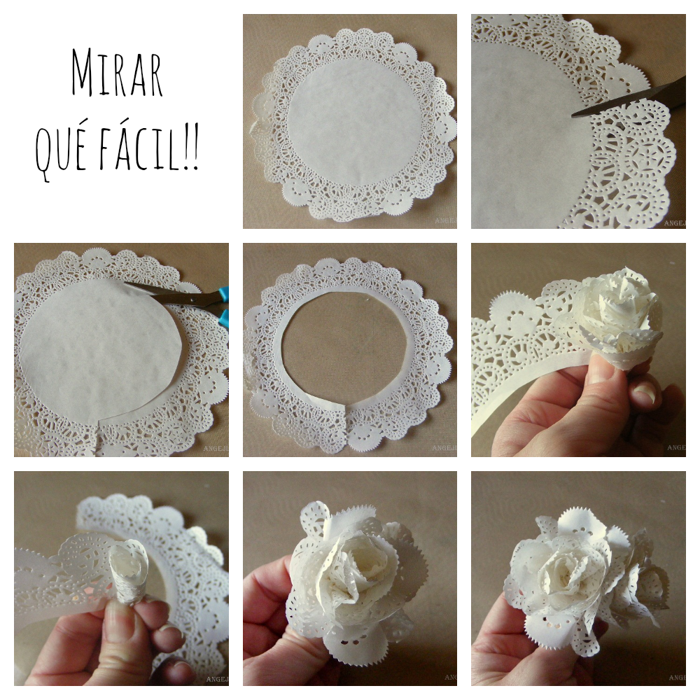 Flowers From Paper Doilies