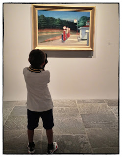 Young Boy & Edward Hopper Gas (1940), Whitney Museum 2013