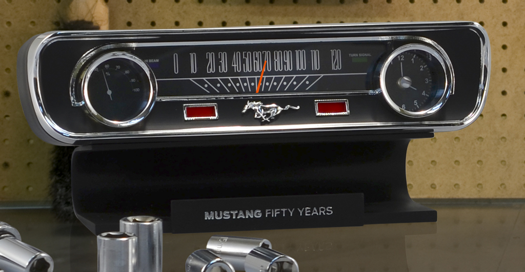 50th Anniversary Mustang Desktop Clock and Thermometer Giveaway ends 9/9